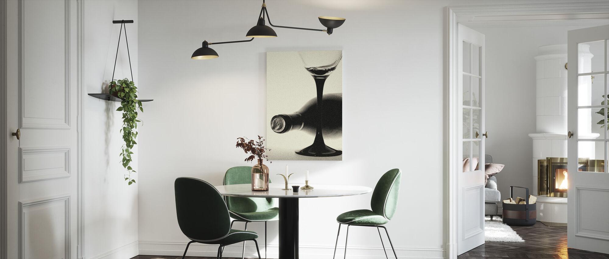 Korrelige Wijnfles - Canvas print - Keuken