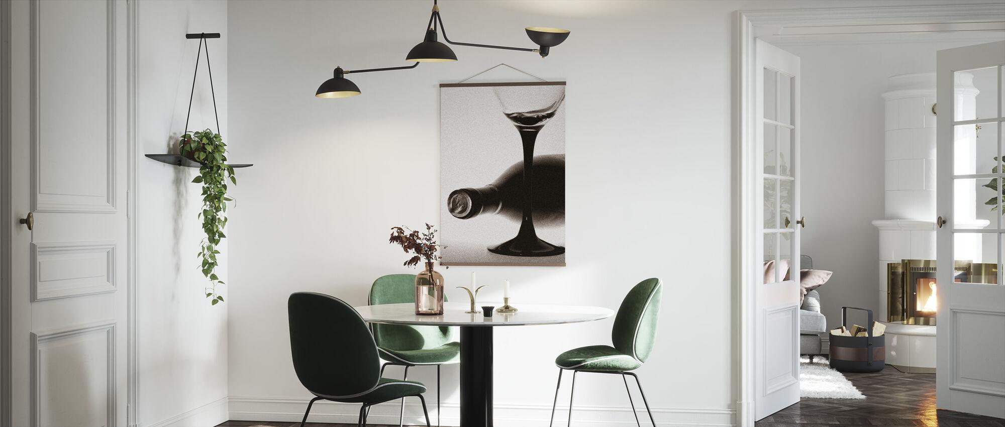 Grainy Winebottle - Poster - Kitchen