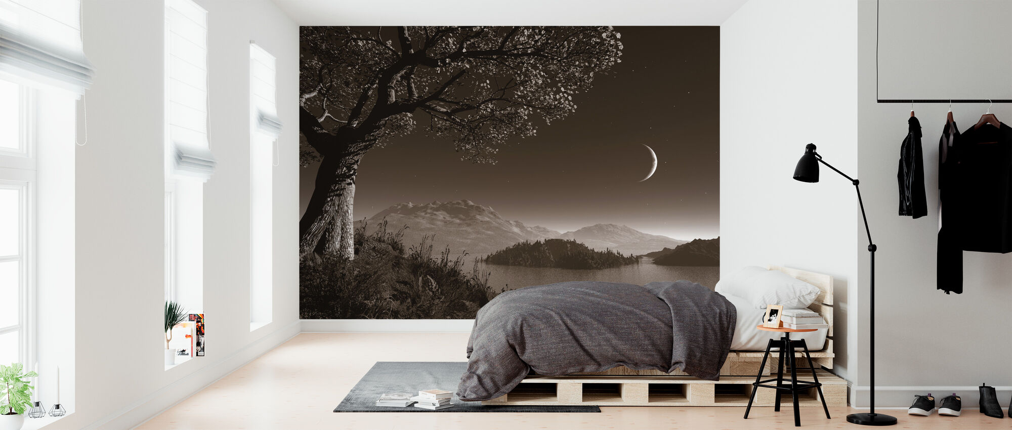 Romantisk natt - Tapet - Sovrum