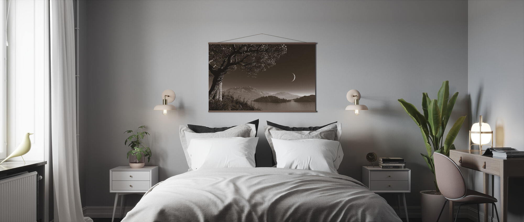 Romantic Night - Poster - Bedroom