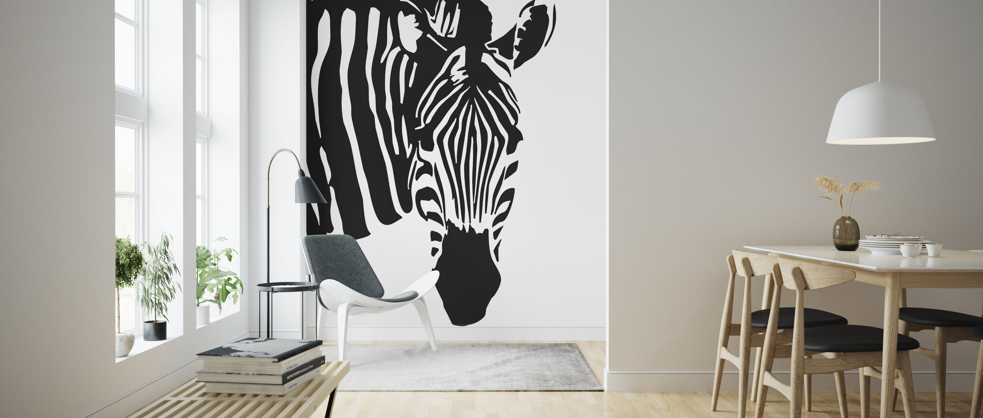 Watching Zebra - Wallpaper - Living Room