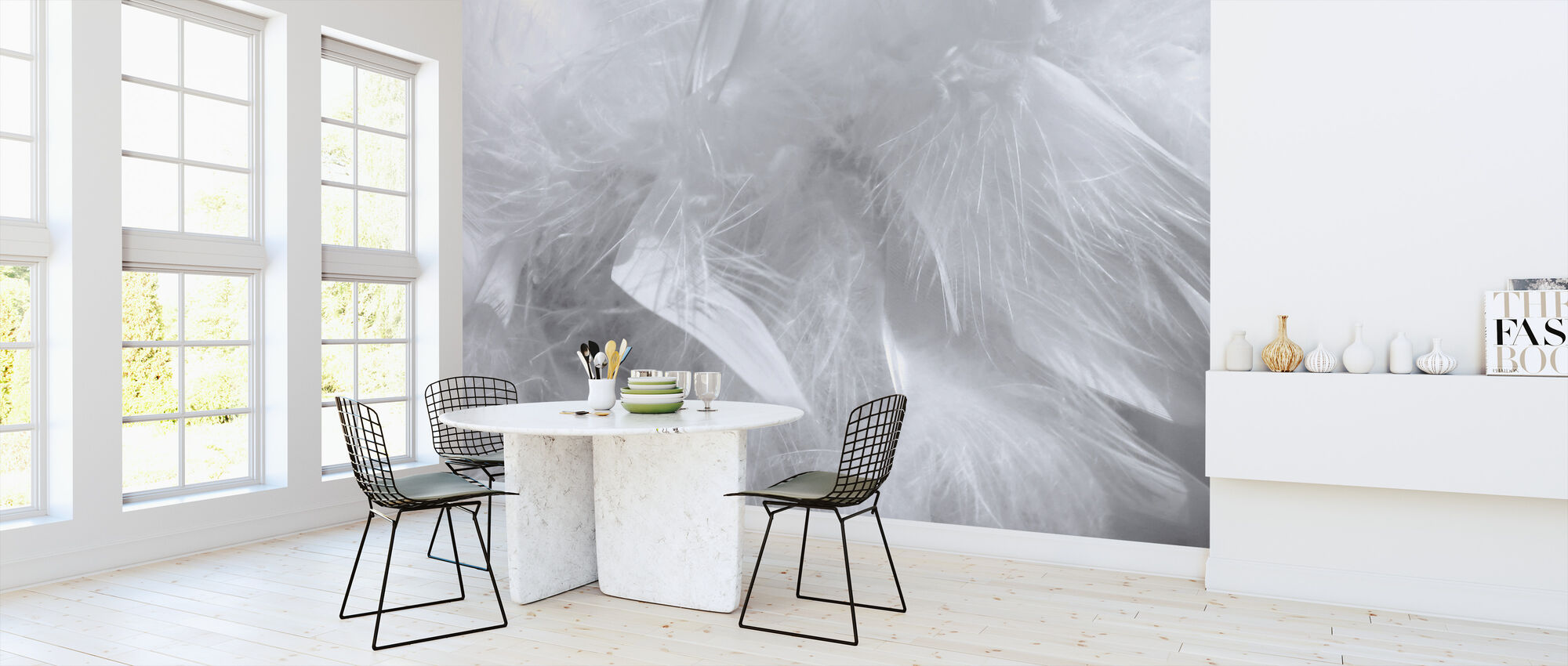 Feather Pattern - Wallpaper - Kitchen