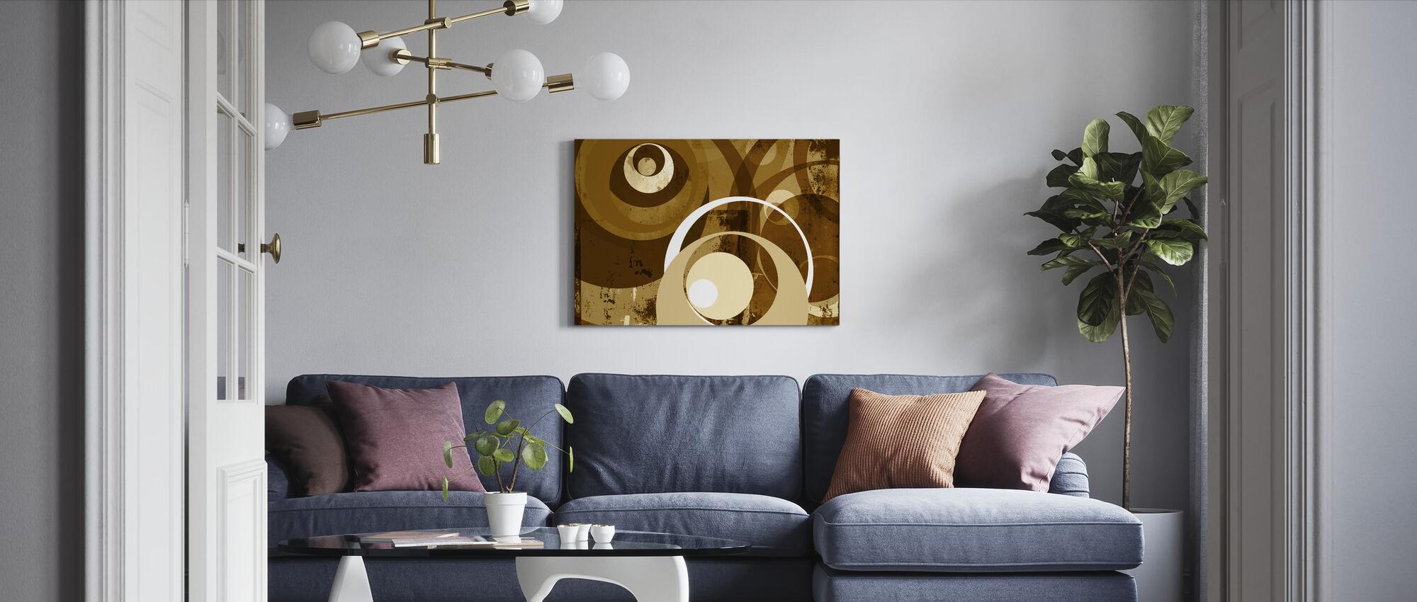 Retro Circles - Canvas print - Living Room