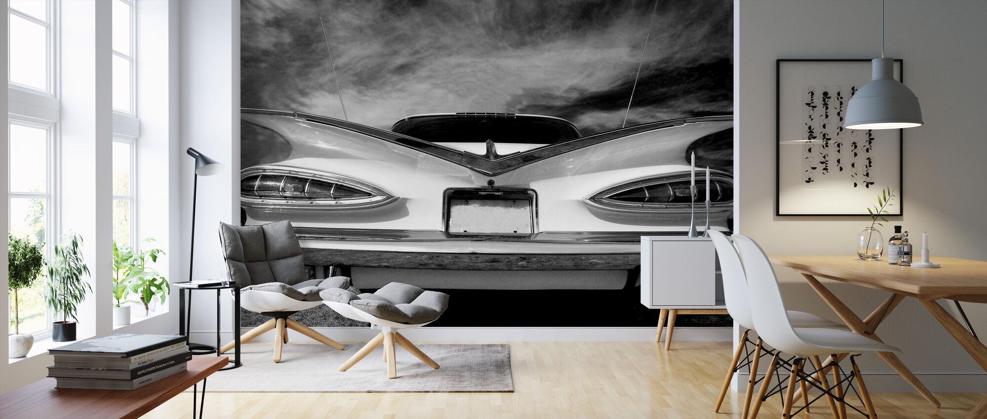 Rear Vintage Car - Wallpaper - Living Room