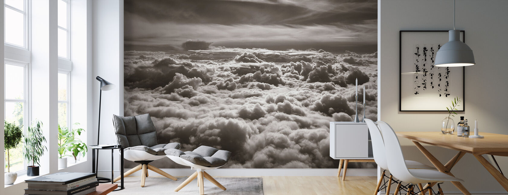 Above Clouds - Wallpaper - Living Room