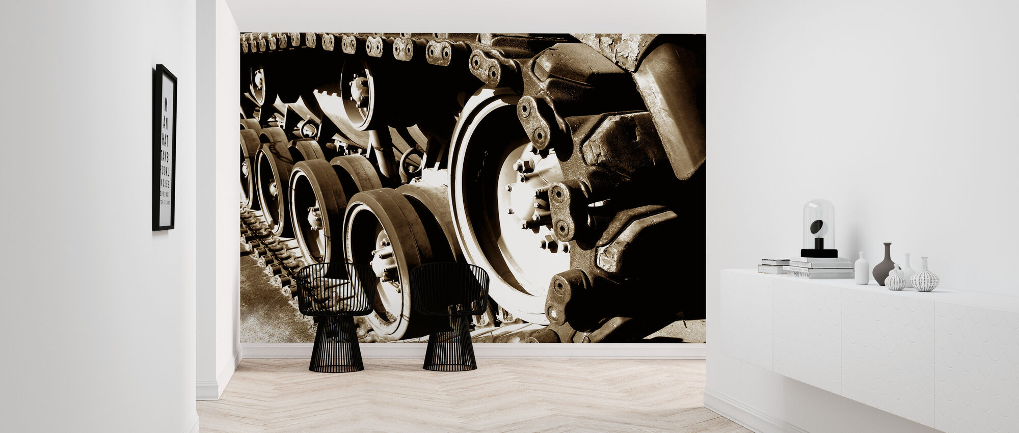 Tank Track - Wallpaper - Hallway