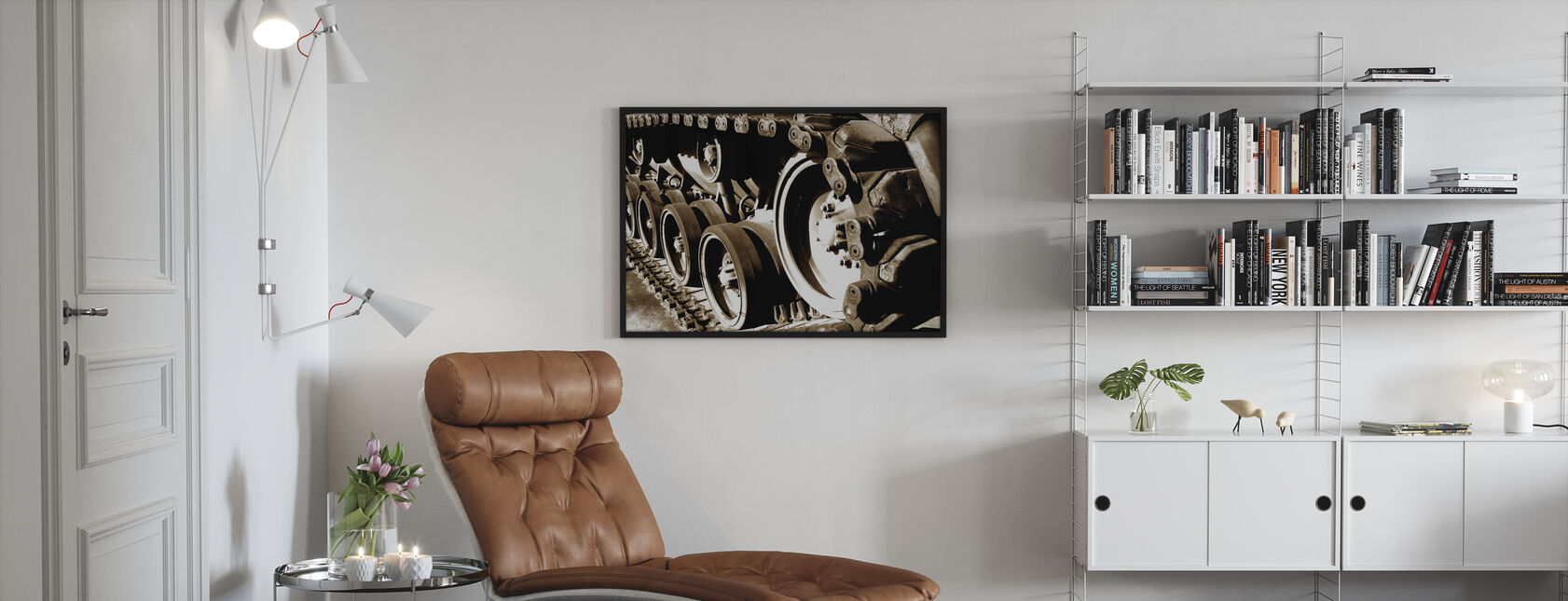 Tank Track - Framed print - Living Room