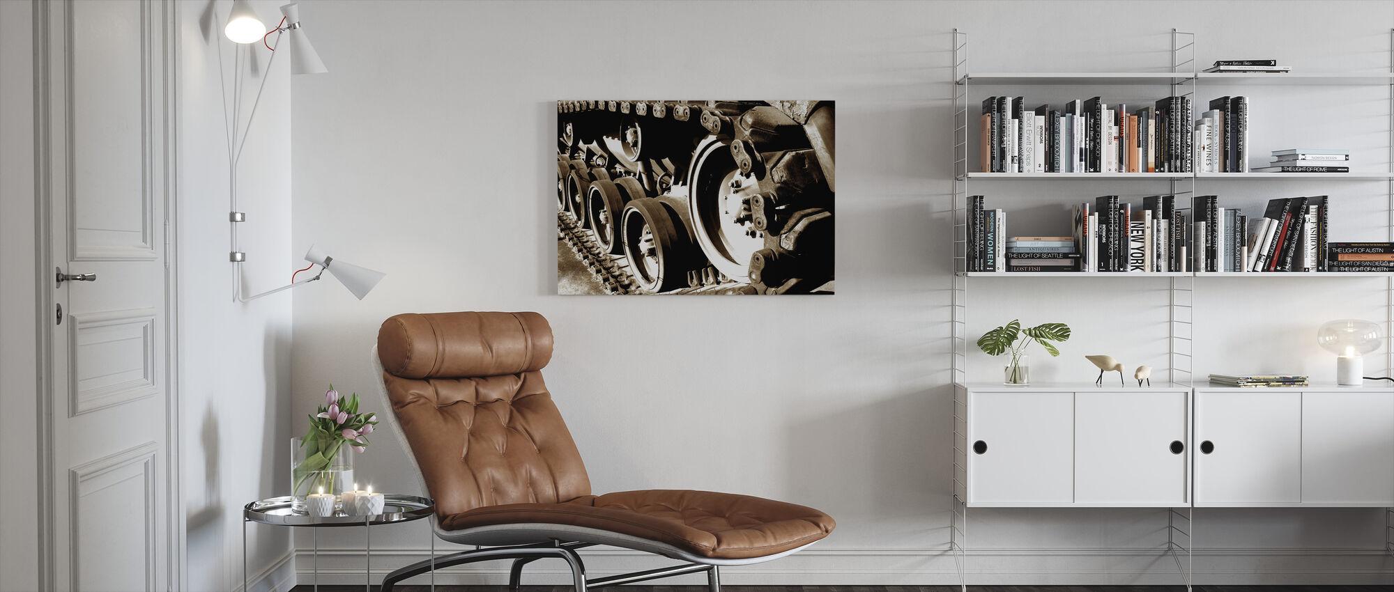 Tank Track - Canvas print - Living Room