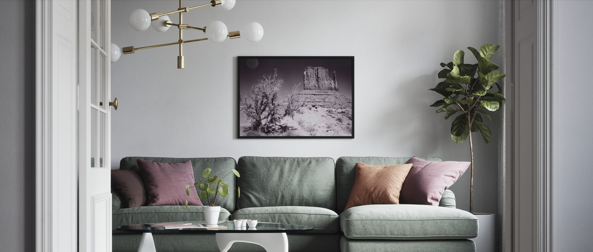 Monument Valley, Utah, USA - Gerahmtes bild - Wohnzimmer