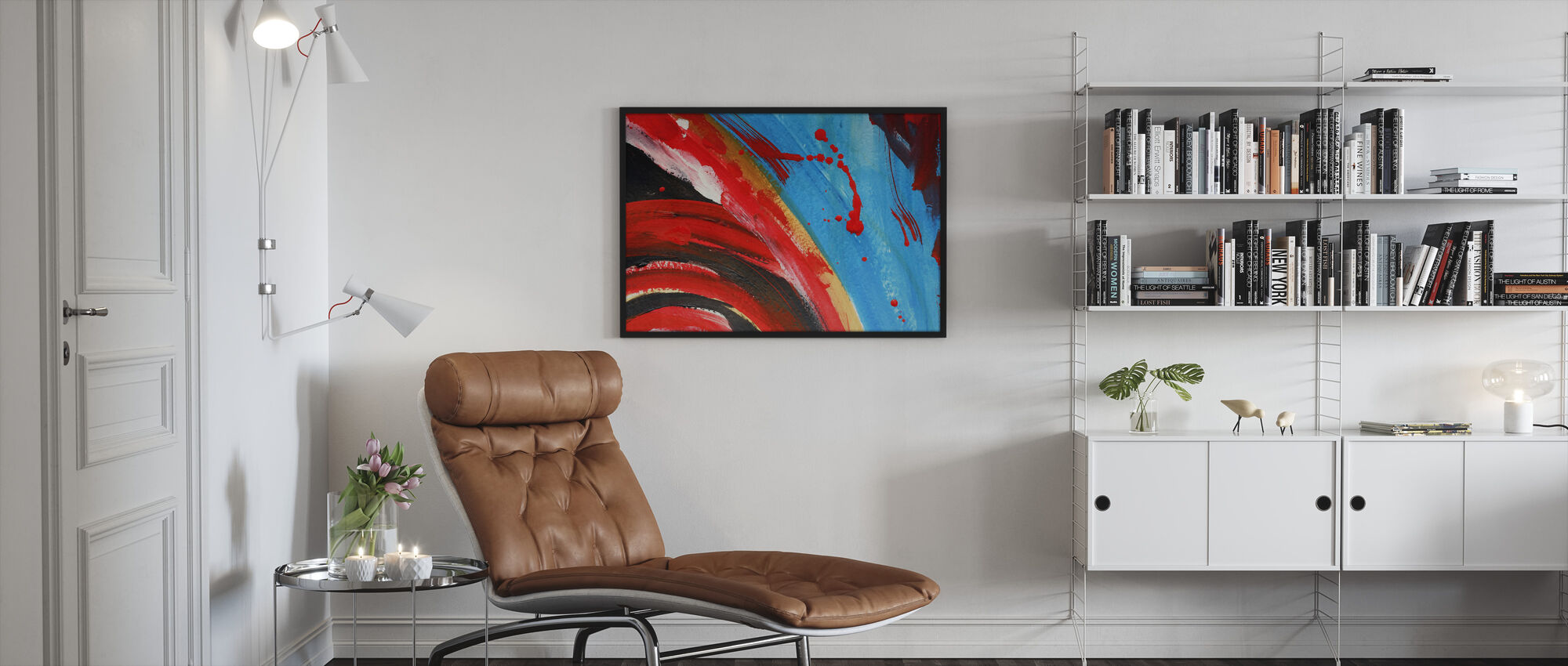 Abstract Painting - Framed print - Living Room