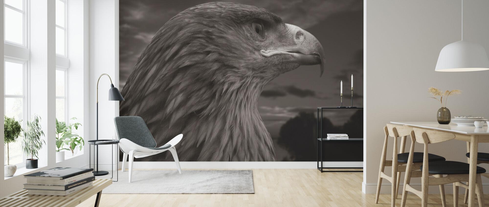 Brown Eagle - Wallpaper - Living Room