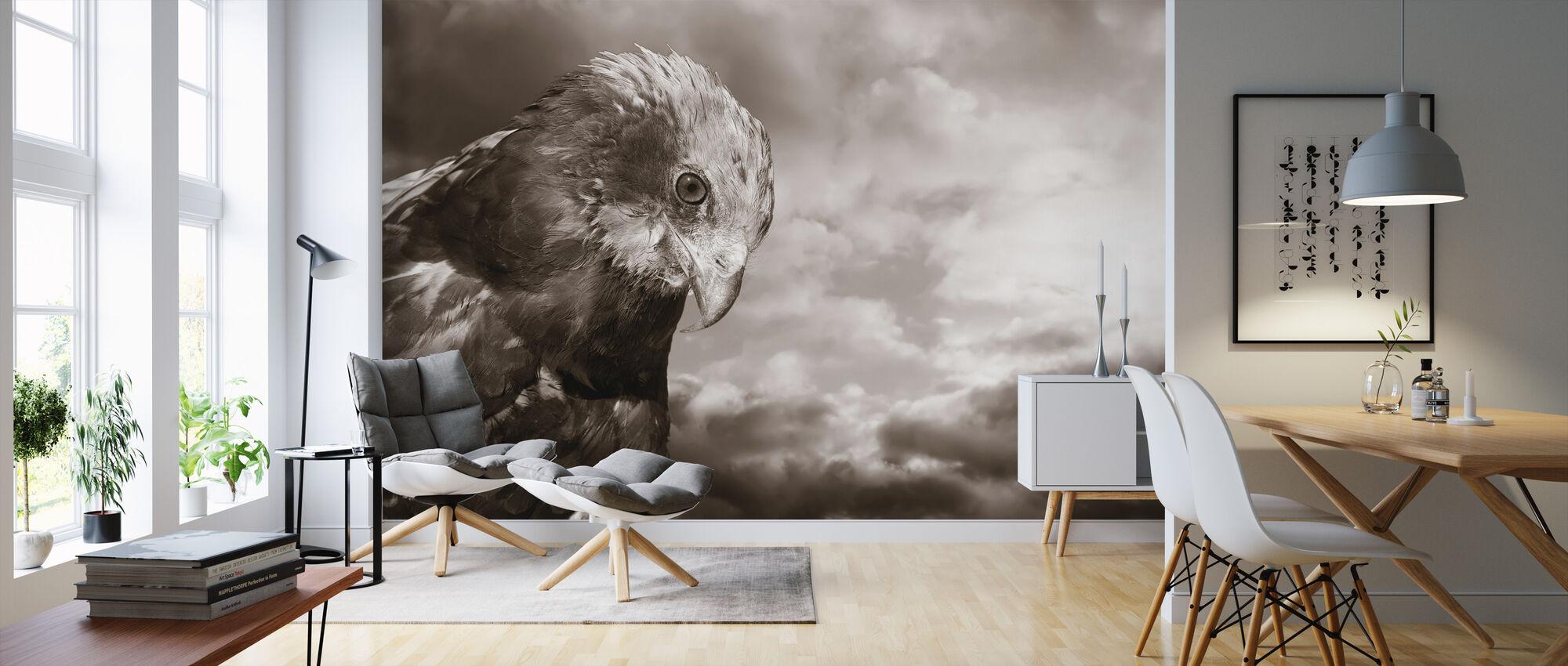 Eagle - Sepia - Wallpaper - Living Room