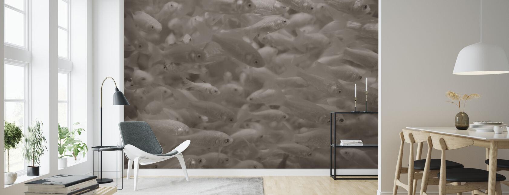 Peces de colores - Sepia - Papel pintado - Salón