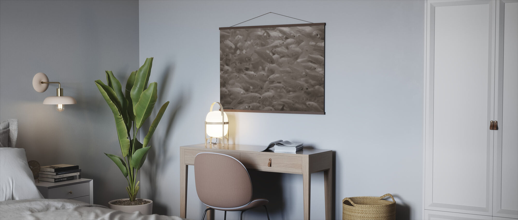 Goldfish - Sepia - Poster - Office