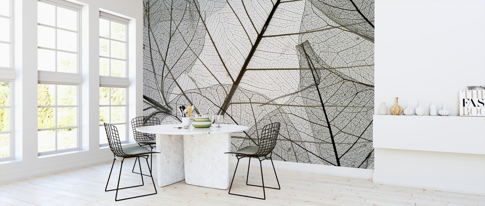 Gedroogde bladeren - Behang - Keuken