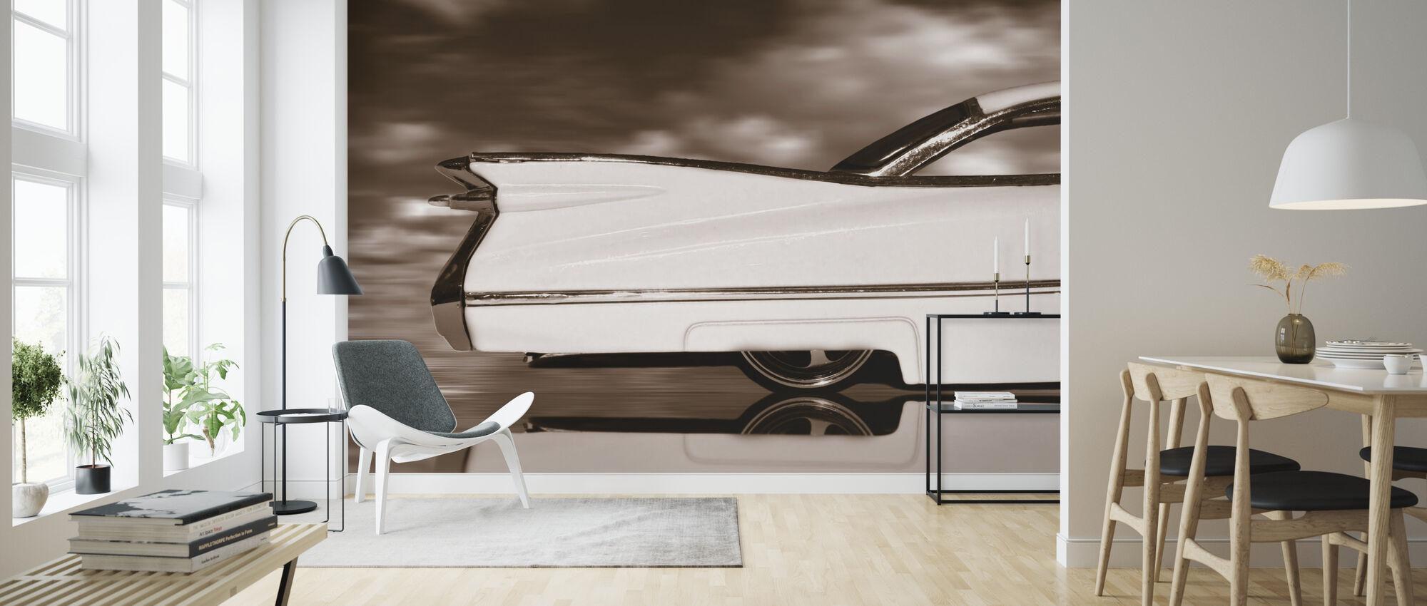 Classic American - Sepia - Wallpaper - Living Room