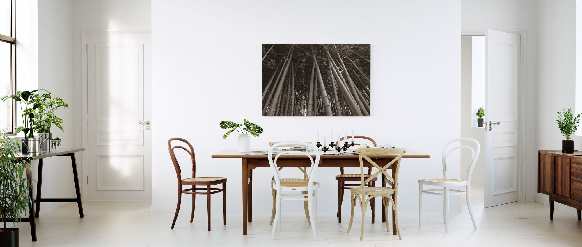 Bamboo Forest - Sepia - Canvas print - Kitchen