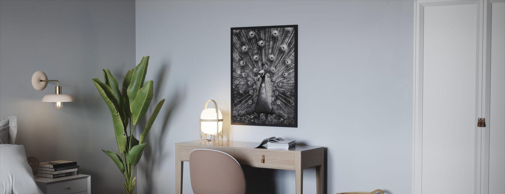 Riikinkukko - Kehystetty kuva - Makuuhuone