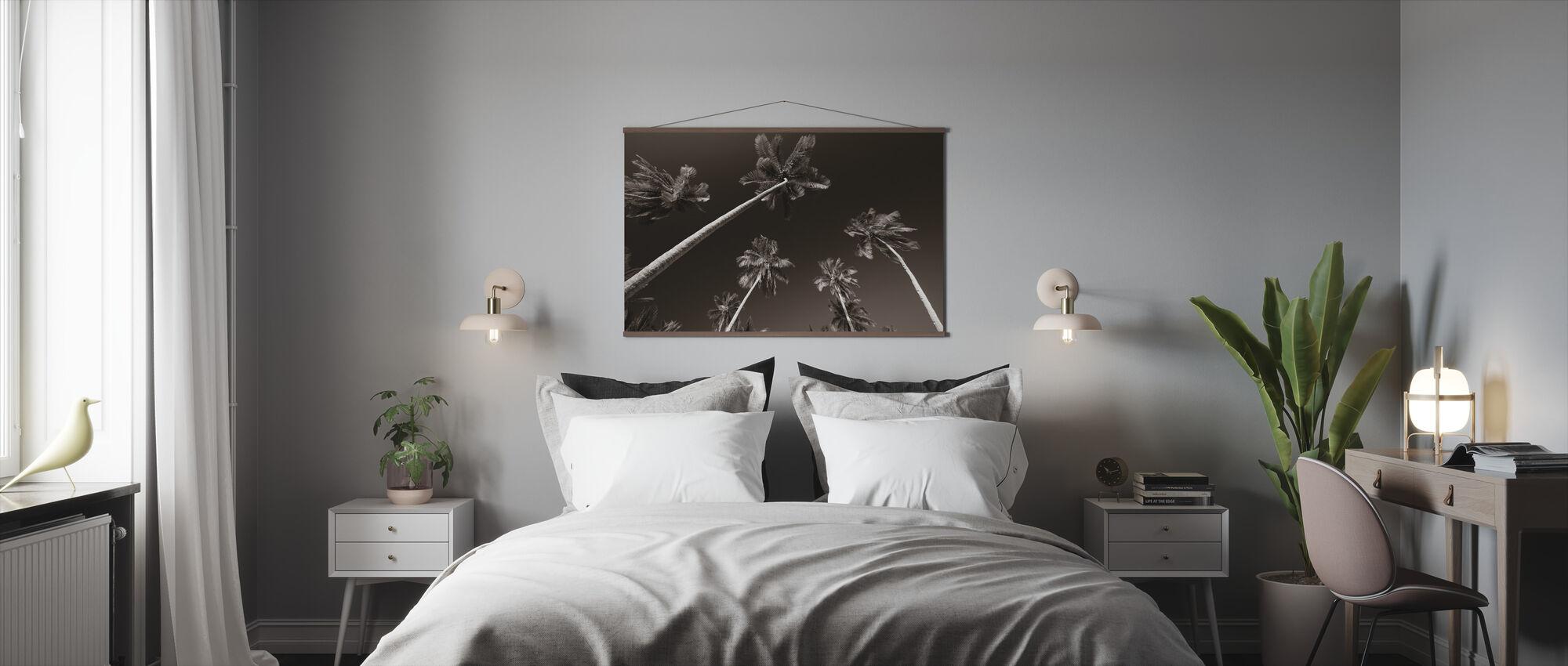 Palm Paradise - Sepia - Poster - Slaapkamer