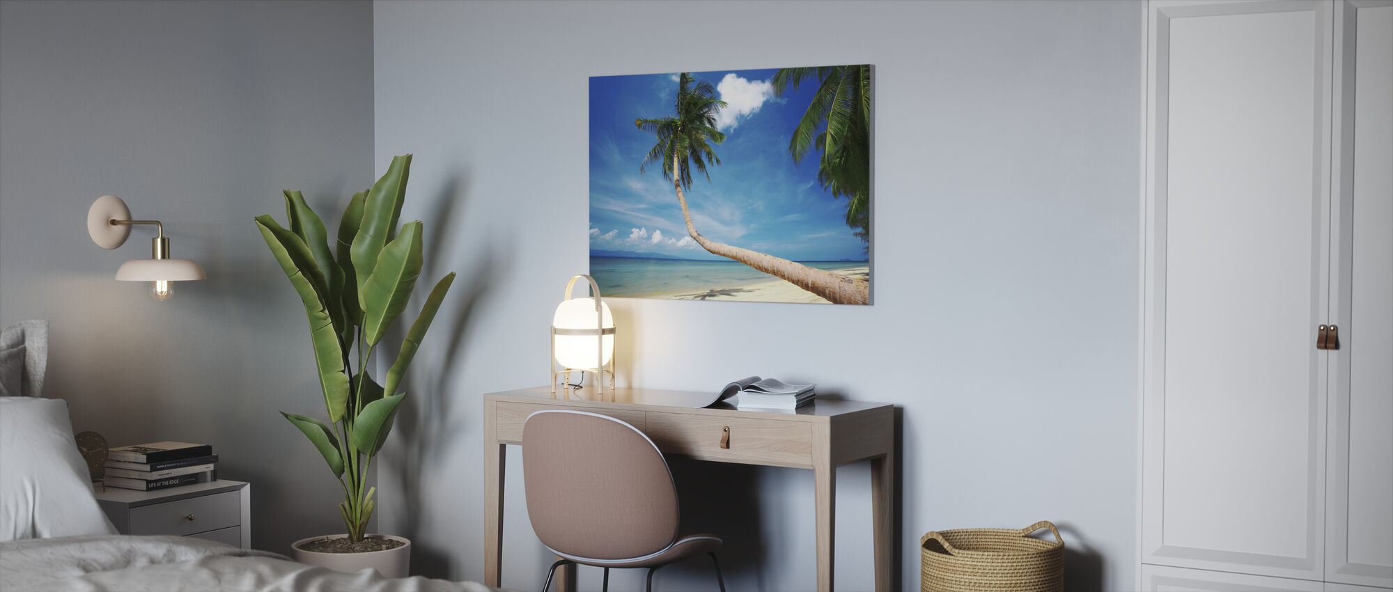 Palm and Bliss - Canvas print - Office