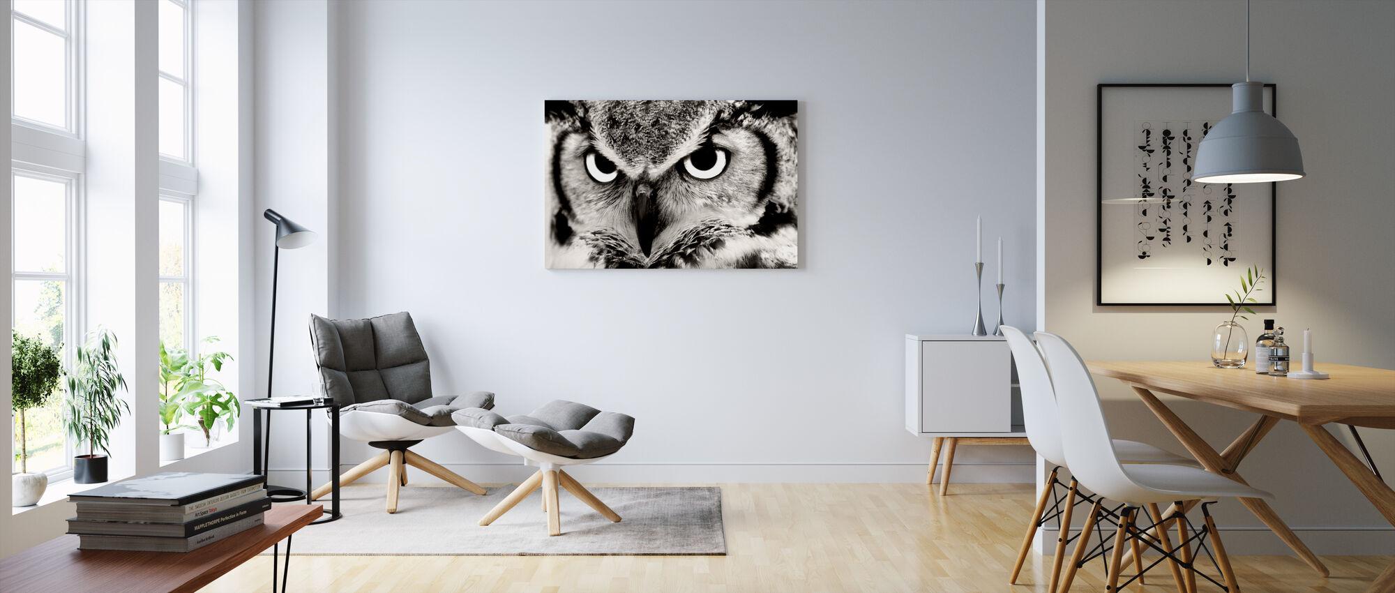 Grote Gehoornde Uil - Canvas print - Woonkamer