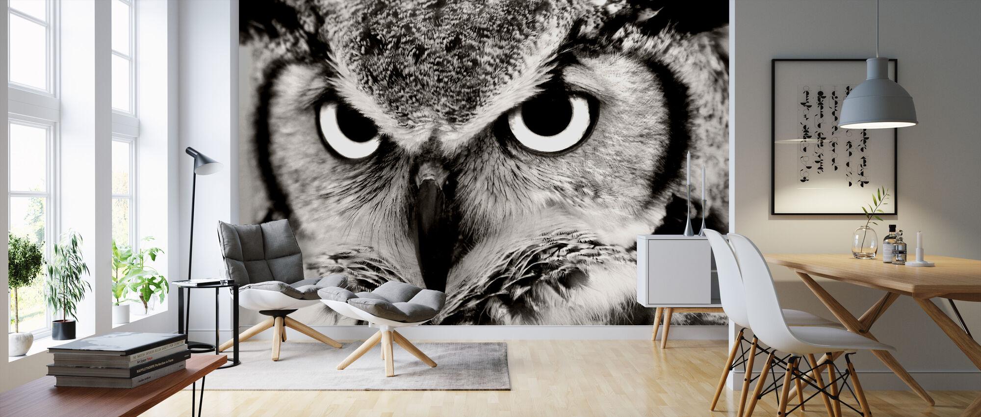 Great Horned Owl - Wallpaper - Living Room