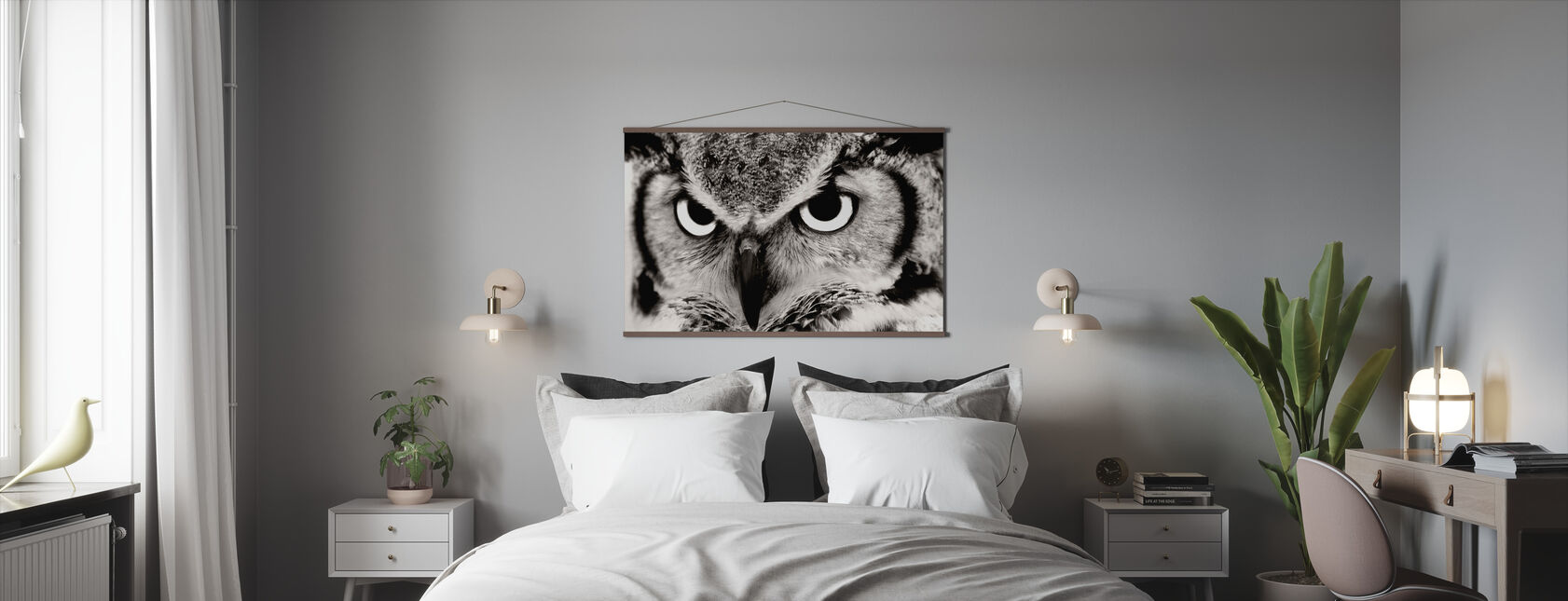 Great Horned Owl - Poster - Bedroom
