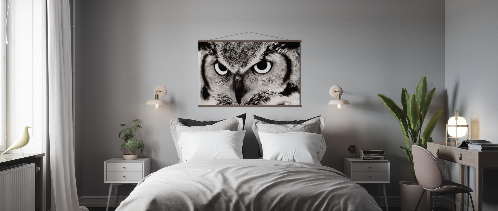 Grote Gehoornde Uil - Poster - Slaapkamer