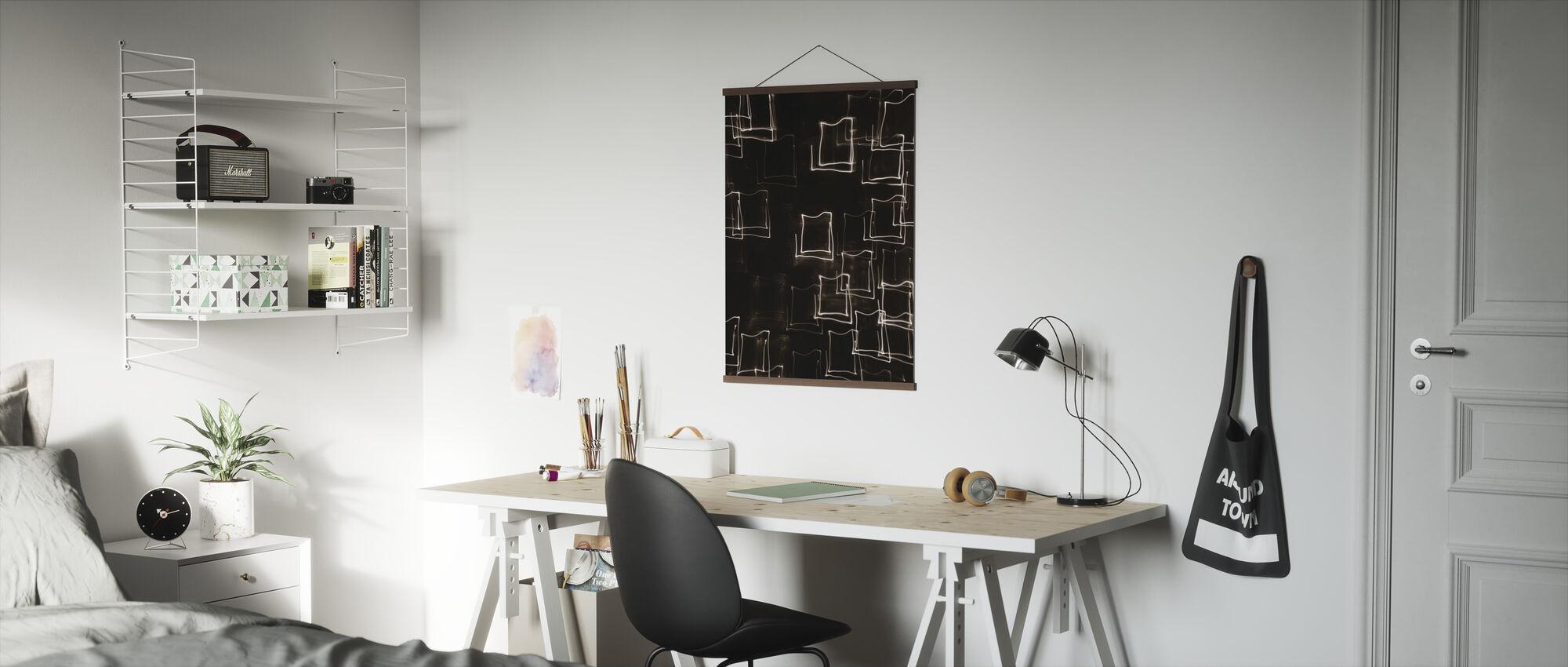 Motion Blur Light - Sepia - Poster - Office