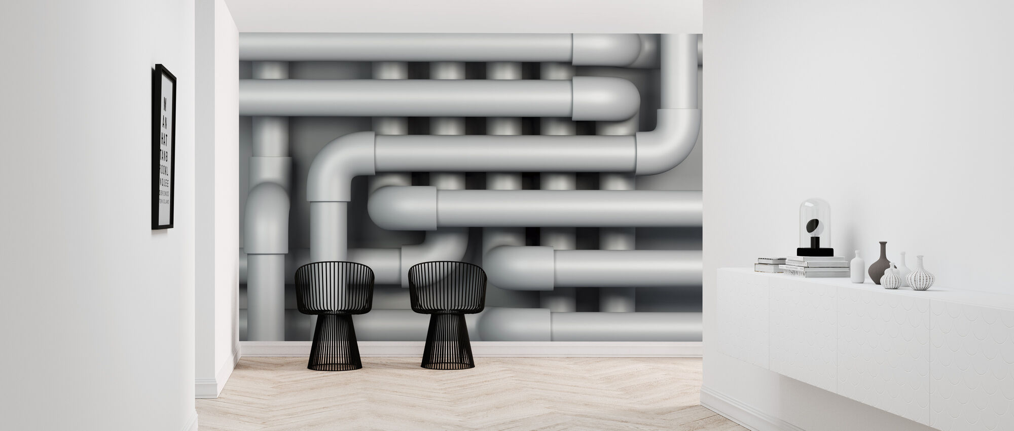 Drain Pipes - Wallpaper - Hallway