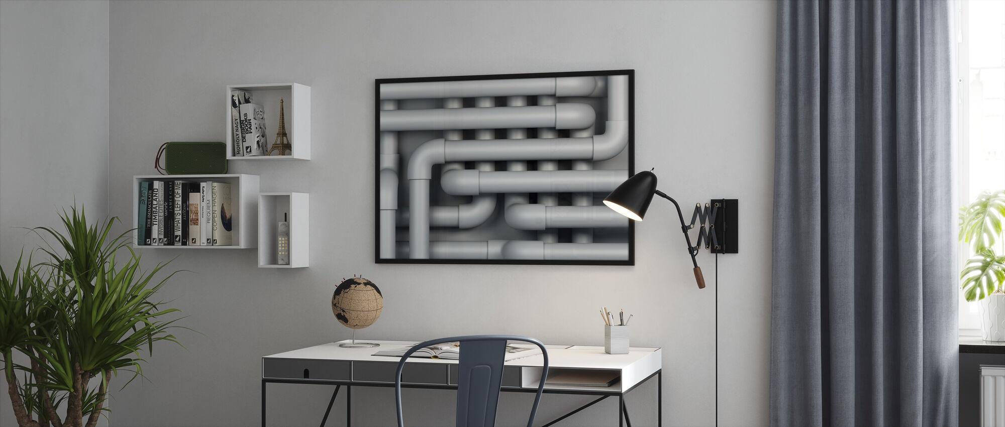 Drain Pipes - Framed print - Office