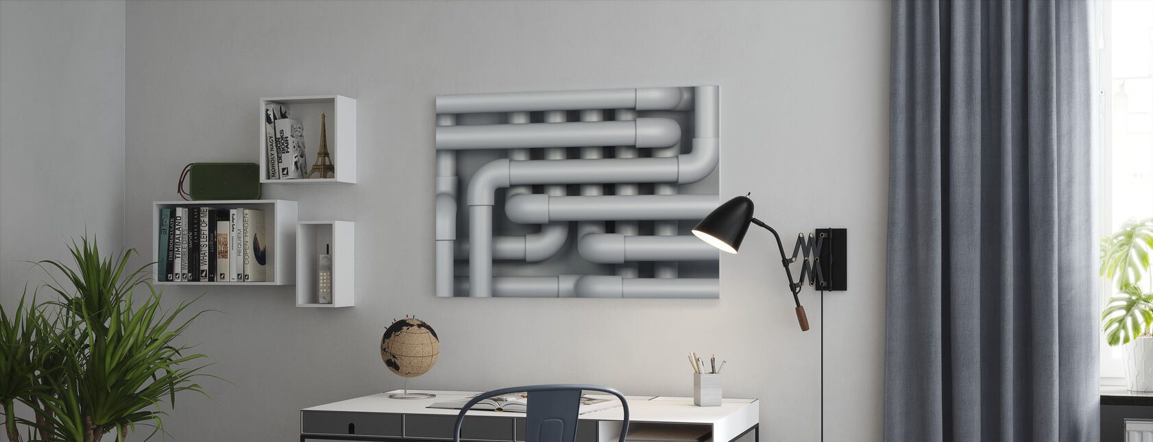 Drain Pipes - Canvas print - Office