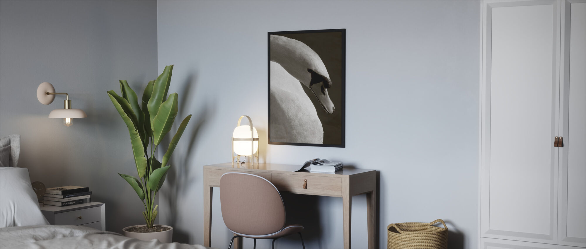 Swan - Framed print - Bedroom