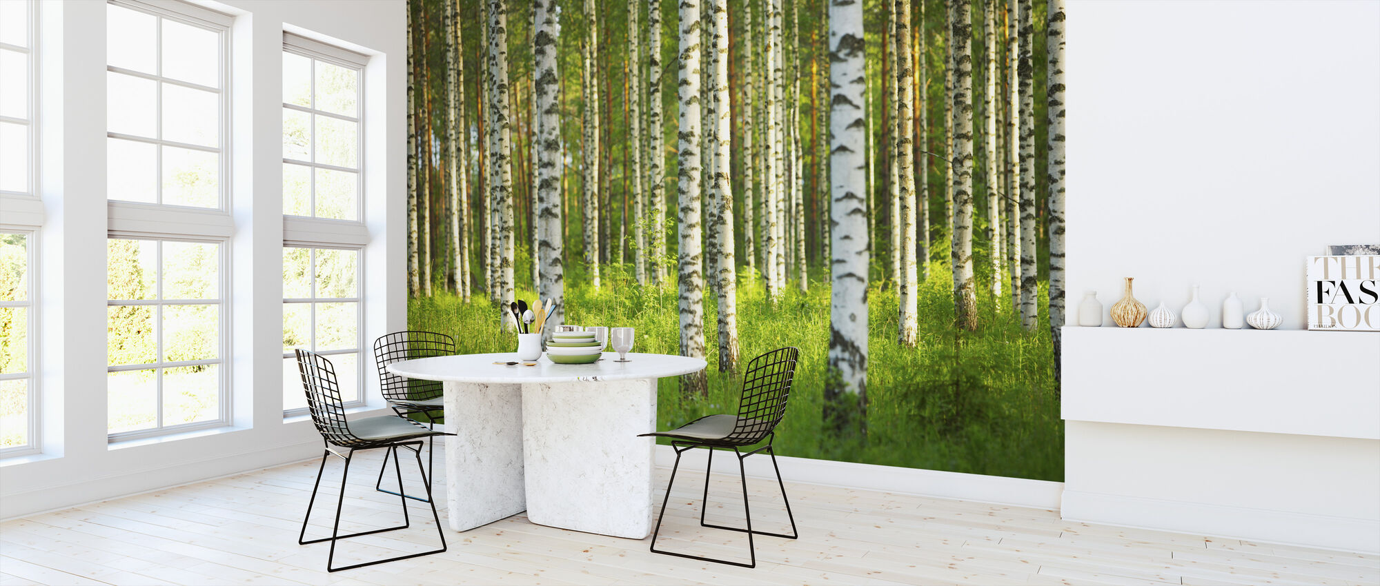 Birch Forest - Wallpaper - Kitchen