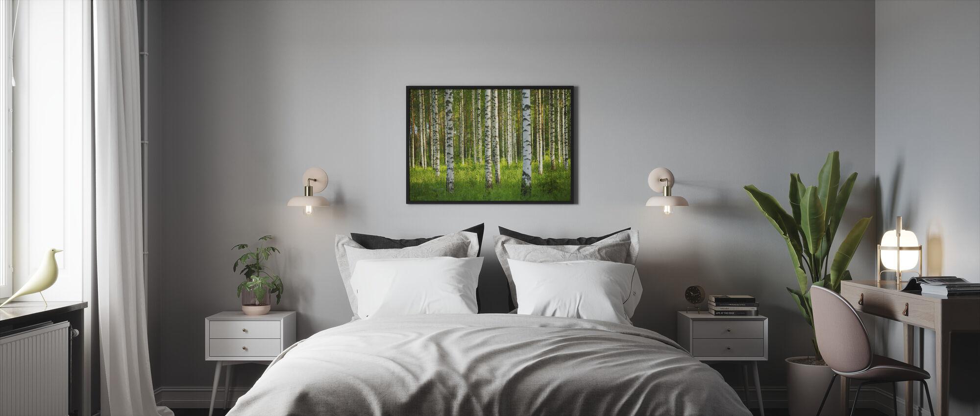 Birch Forest - Framed print - Bedroom