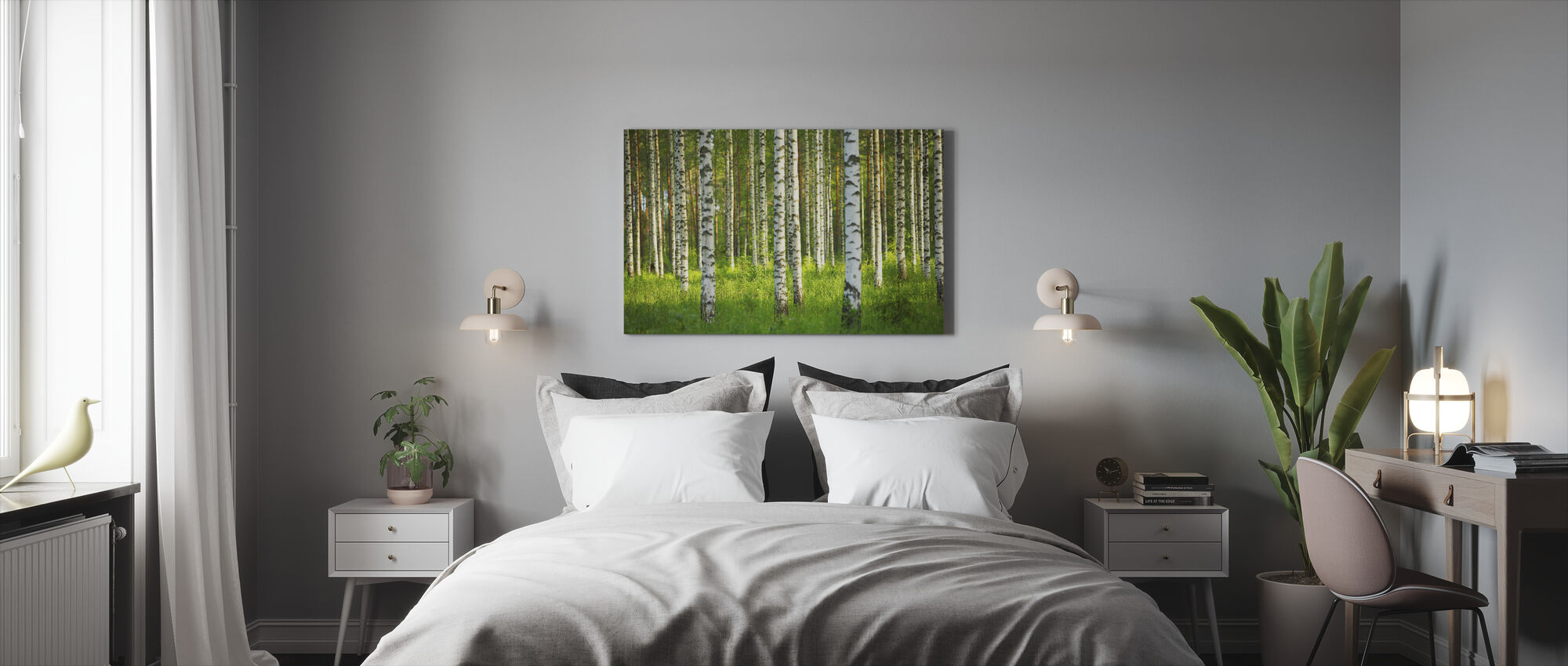 Birch Forest - Canvas print - Bedroom