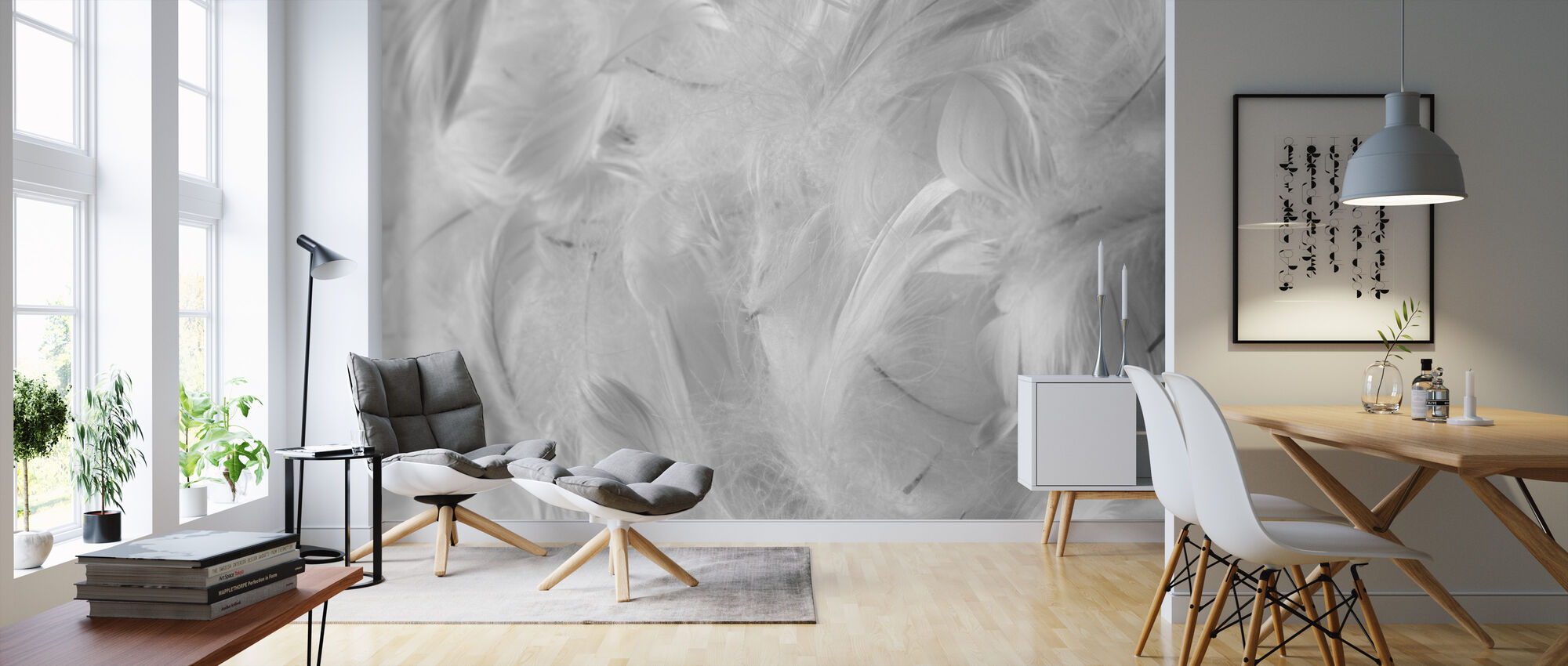 Feathers - Wallpaper - Living Room