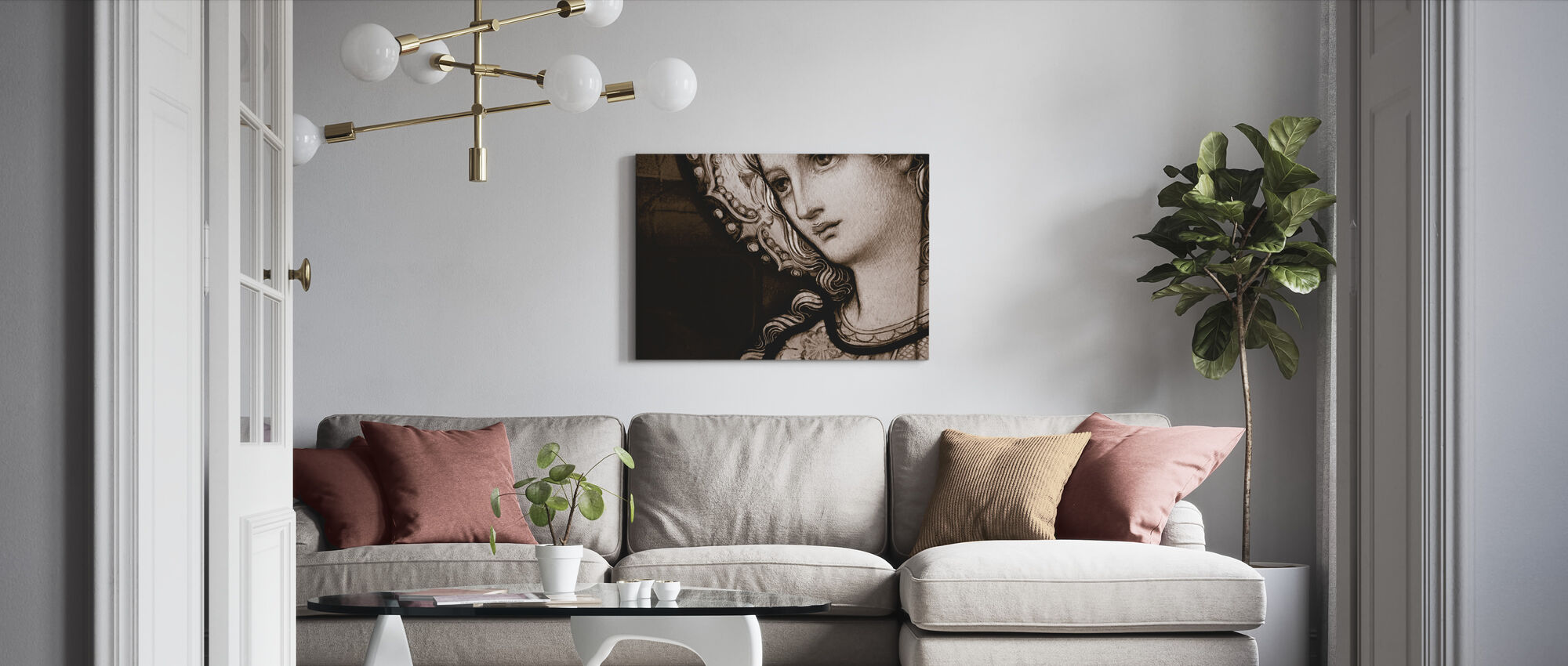 Mother Mary - Canvas print - Living Room
