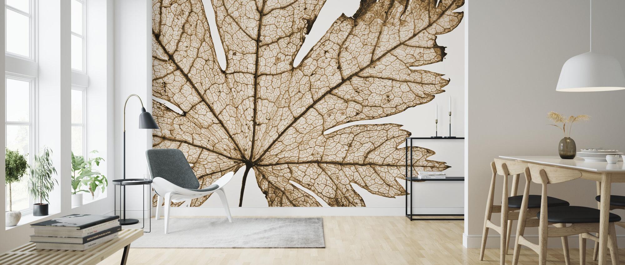 Blad Detail - Behang - Woonkamer