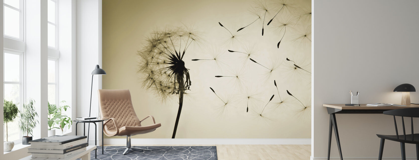 Dandelion - Wallpaper - Living Room