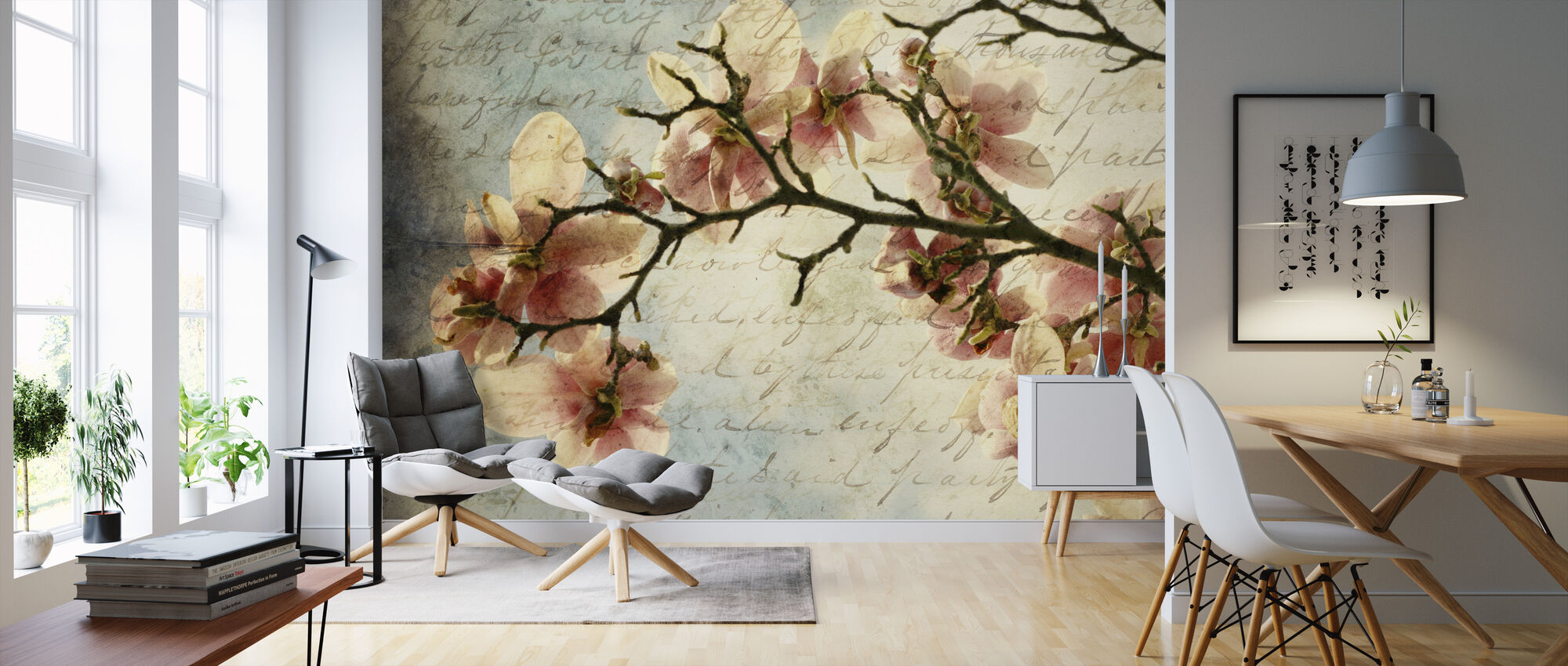 Magnolia Memories - Wallpaper - Living Room