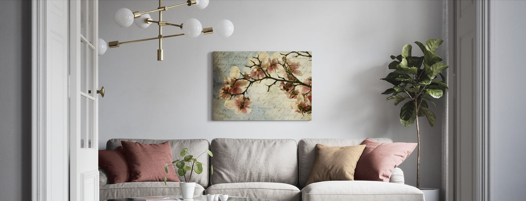 Magnolia Muistoja - Canvastaulu - Olohuone