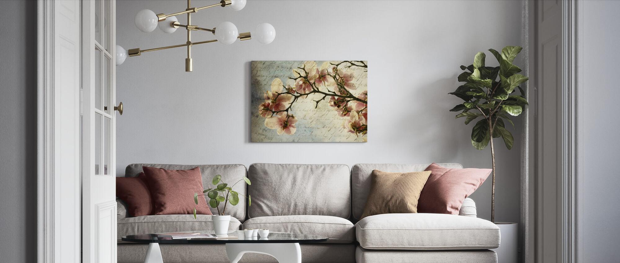 Magnolia Memories - Canvas print - Living Room