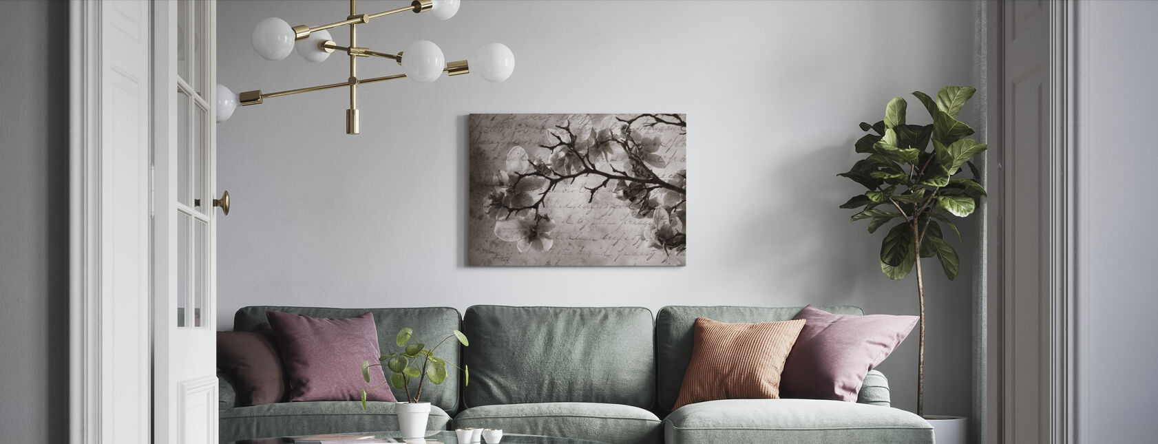 Magnolia Memories - Canvas print - Living Room