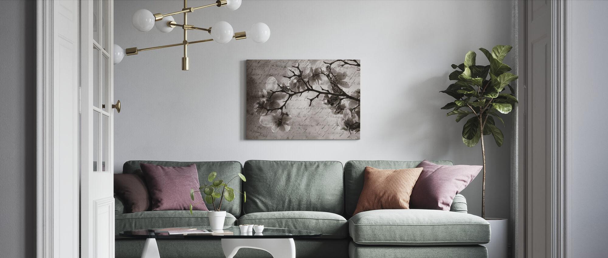 Magnolia Herinneringen - Canvas print - Woonkamer