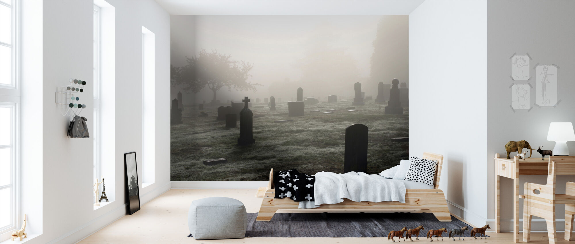 Graveyard in October - Wallpaper - Kids Room