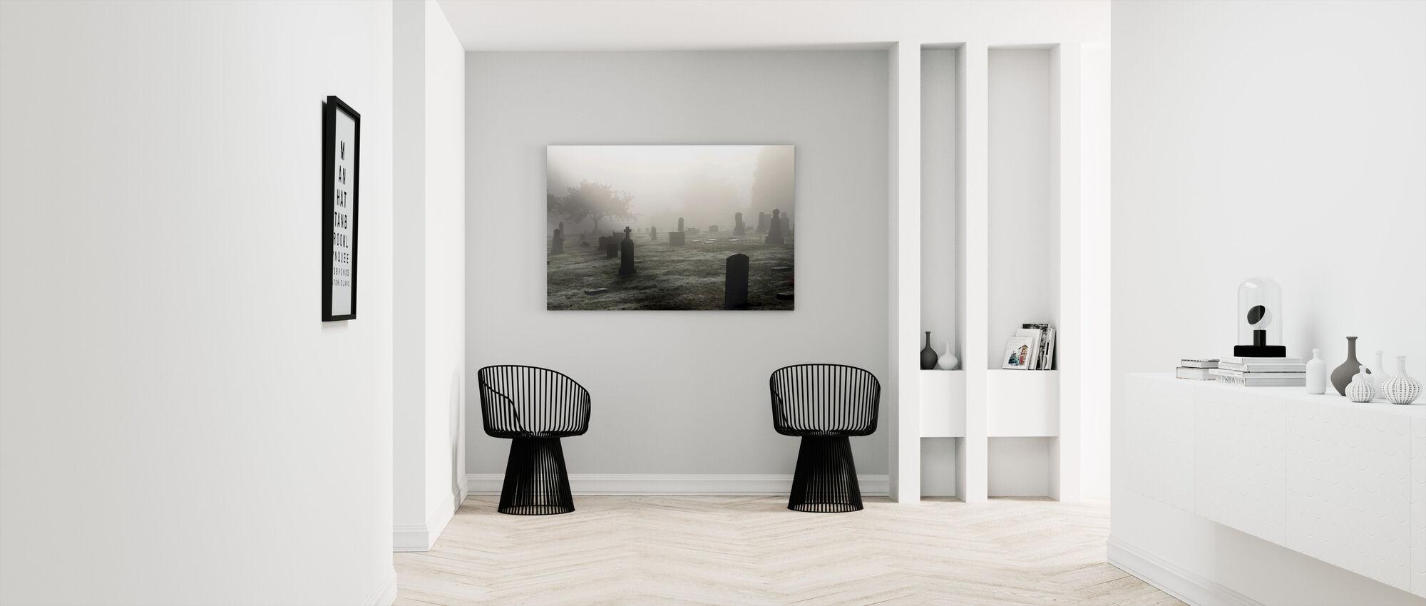 Graveyard in October - Canvas print - Hallway