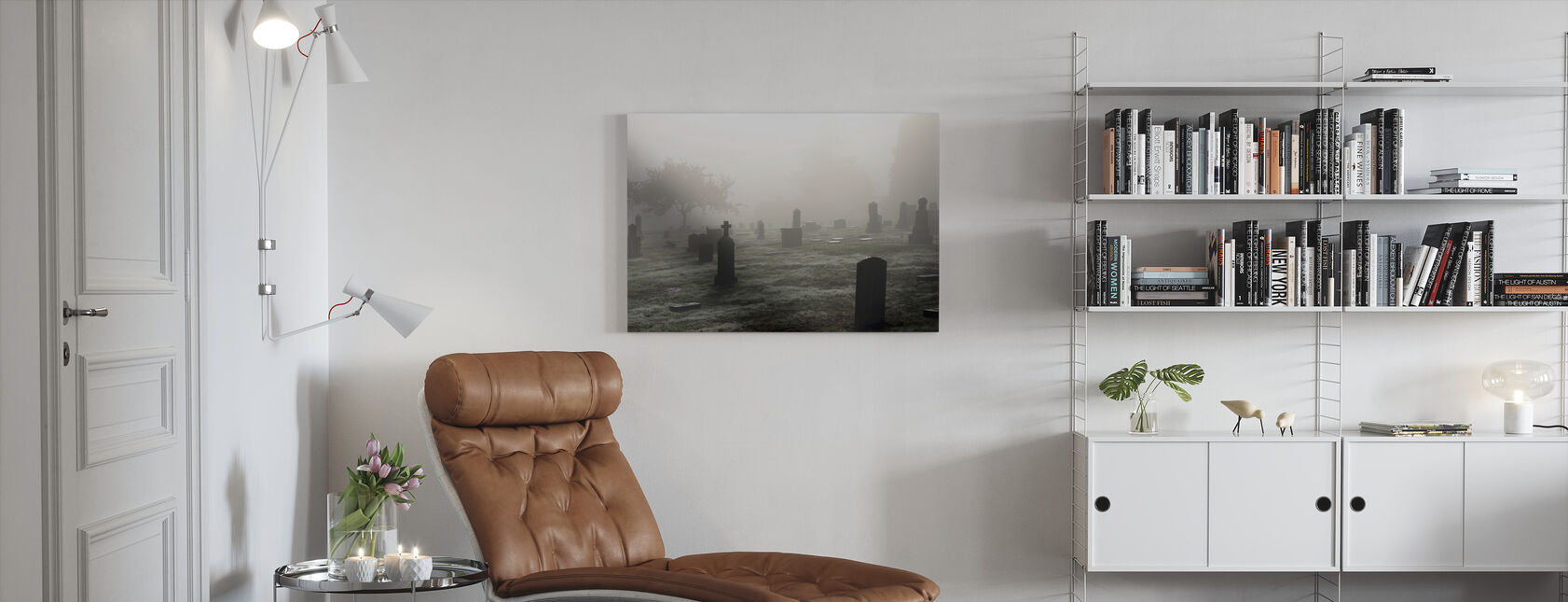 Graveyard in October - Canvas print - Living Room