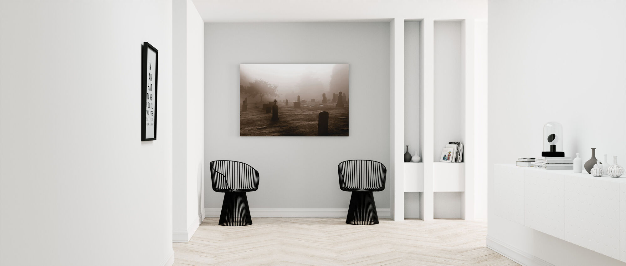 Graveyard in October - Canvas print - Hallway