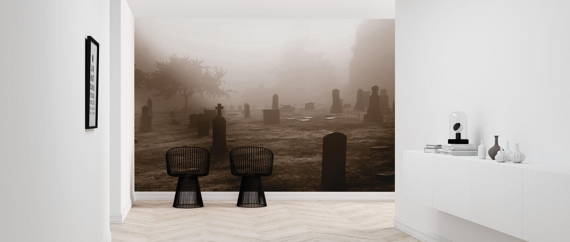 Friedhof im Oktober - Tapete - Flur